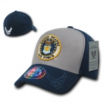 Rapid Dominance S11 Flex Military Caps: Grey / Navy, Air Force