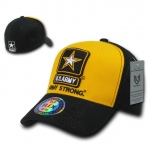 Rapid Dominance S11 Flex Military Caps: Gold / Black, Army