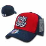 Rapid Dominance S11 Flex Military Caps: Red / Navy, Coast Guard