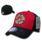 Rapid Dominance S11 Flex Military Caps: Cardinal / Black, Marines