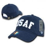 Rapid Dominance S84 Southern Cal Vintage Cotton Twill Military Cap: Navy, USAF