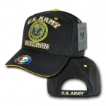 Rapid Dominance VET Veteran Military Branch Caps: Black, Army