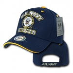 Rapid Dominance VET Veteran Military Branch Caps: Navy, Navy