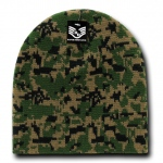 Rapid Dominance R602 Camo Beanies Watch Caps: Woodland Digital, Short