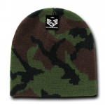 Rapid Dominance R602 Camo Beanies Watch Caps: Woodland, Short