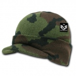Rapid Dominance R604 Camouflage Jeep Caps/Visor Beanies: Woodland