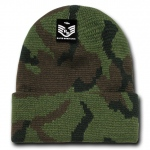 Rapid Dominance R607 Camo Cuff Beanies Watch Caps: Woodland