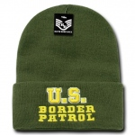 Rapid Dominance R81 Embroidered Military Law Beanies: Olive, Border Patrol, Long