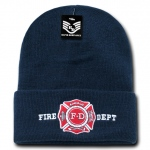 Rapid Dominance R81 Embroidered Military Law Beanies: Navy, Fire Department, Long