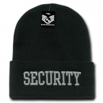 Rapid Dominance R81 Embroidered Military Law Beanies: Black, Security, Long