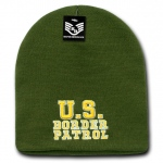 Rapid Dominance R90 Embroidered Military Law Knit Cap: Olive, Border Patrol