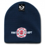 Rapid Dominance R90 Embroidered Military Law Knit Cap: Navy, Fire Department