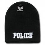 Rapid Dominance R90 Embroidered Military Law Knit Cap: Black, Police