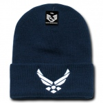 Rapid Dominance S81 Classic Military Beanies: Navy, Air Force Wings, Long