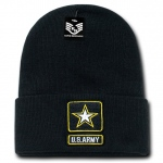Rapid Dominance S81 Classic Military Beanies: Black, Army Star, Long