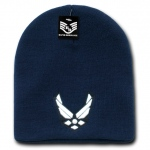 Rapid Dominance S90 Classic Military Work Beanie: Navy, Air Force Wings