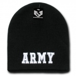 Rapid Dominance S90 Classic Military Work Beanie: Black, Army Text