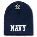Rapid Dominance S90 Classic Military Work Beanie: Navy, Navy Text