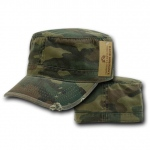 Rapid Dominance 101 Vintage BDU Fatique/Cotton Caps: Woodland