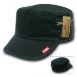 Rapid Dominance 35B Military Fatique Cap with Zipper: Black