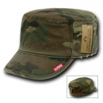 Rapid Dominance 35B Military Fatique Cap with Zipper: Woodland