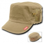 Rapid Dominance 35B Military Fatique Cap with Zipper: Khaki