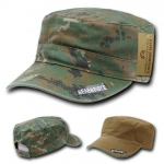 Rapid Dominance R98 Reversible Camo Flat Top Caps: Woodland Digital