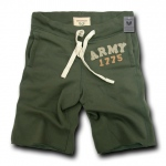 Rapid Dominance R55 Military Applique Fleece Shorts: Olive, Army