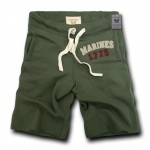 Rapid Dominance R55 Military Applique Fleece Shorts: Olive, Marines