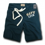 Rapid Dominance R55 Military Applique Fleece Shorts: Navy, Navy