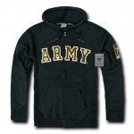 Rapid Dominance S43 Full Zip Fleece Military Hoodies: Black, Army