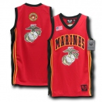 Rapid Dominance R14 Military Basketball Jersey: Red, Marines