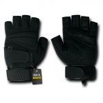 Rapid Dominance T23 Lightweight Half Finger Gloves: Black