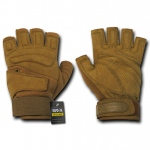Rapid Dominance T23 Lightweight Half Finger Gloves: Coyote