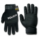 Rapid Dominance T29 Digital Leather Duty Gloves: Black, Policia