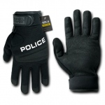Rapid Dominance T29 Digital Leather Duty Gloves: Black, Police