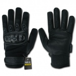 Rapid Dominance T41 Carbon Fiber Knuckle Tactical Glove: Black