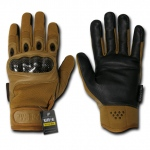 Rapid Dominance T41 Carbon Fiber Knuckle Tactical Glove: Coyote