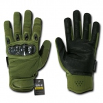 Rapid Dominance T41 Carbon Fiber Knuckle Tactical Glove: Olive