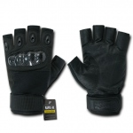 Rapid Dominance T42 Half Finger Hard Knuckle Glove: Black