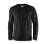 Rapid Dominance B02 Performance Longsleeve Mock: Black