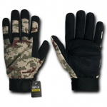 Rapid Dominance T09 Digital Camo Tactical Gloves: Desert