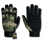 Rapid Dominance T09 Digital Camo Tactical Gloves: Woodland