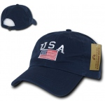 Rapid Dominance A03 Polo Style USA Caps: Navy