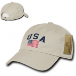 Rapid Dominance A03 Polo Style USA Caps: Stone