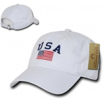 Rapid Dominance A03 Polo Style USA Caps: White
