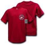 Rapid Dominance S26 Basic Military T-Shirts: Cardinal, Marines Emblem