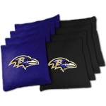 Wild Sports Baltimore Ravens Tailgate Toss XL Bean Bag Set
