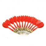 12 Pack Red Metal Tip Brass Balloon Darts