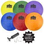 "Set of Six (8.5"") Playground Balls"